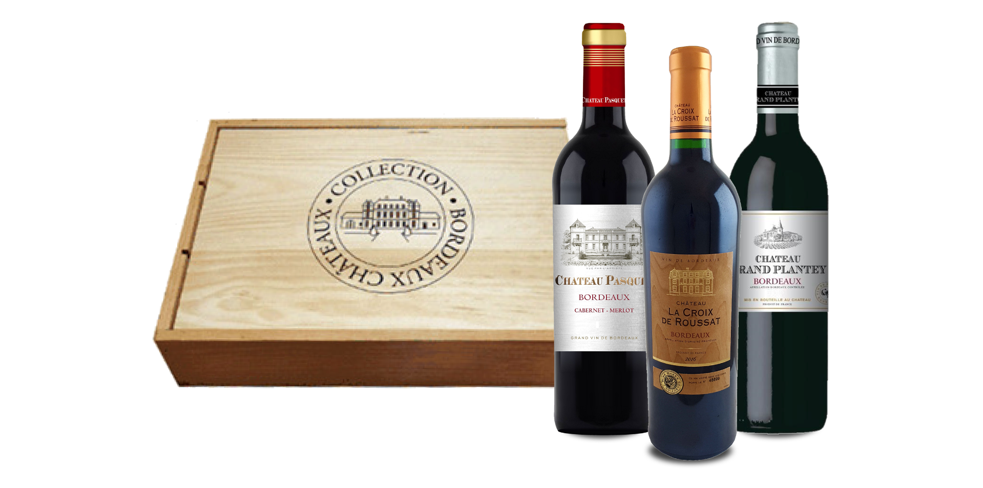 Goudbekroonde Bordeaux Ch�teau Collectie (3 flessen)