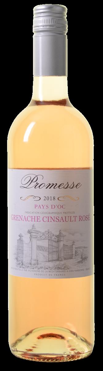 Promesse Grenache-Cinsault Rose Pays d'Oc