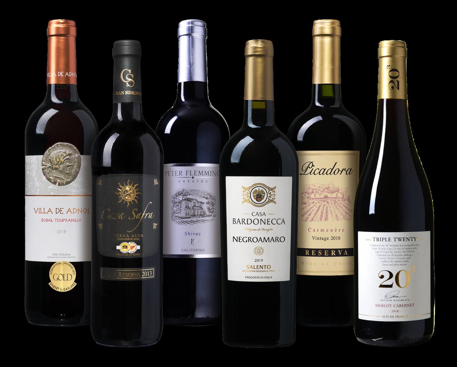 Wijnpakket rode wijn wijnvoordeel.nl