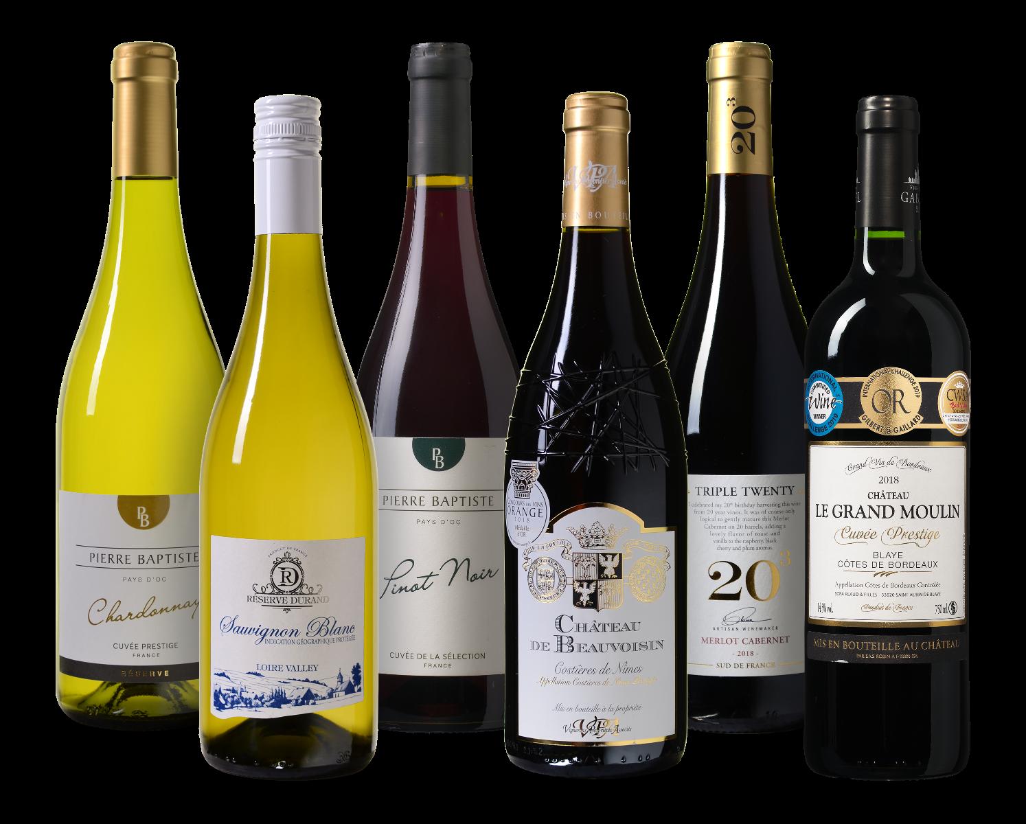 Wijnpakket Frankrijk wijnvoordeel.nl