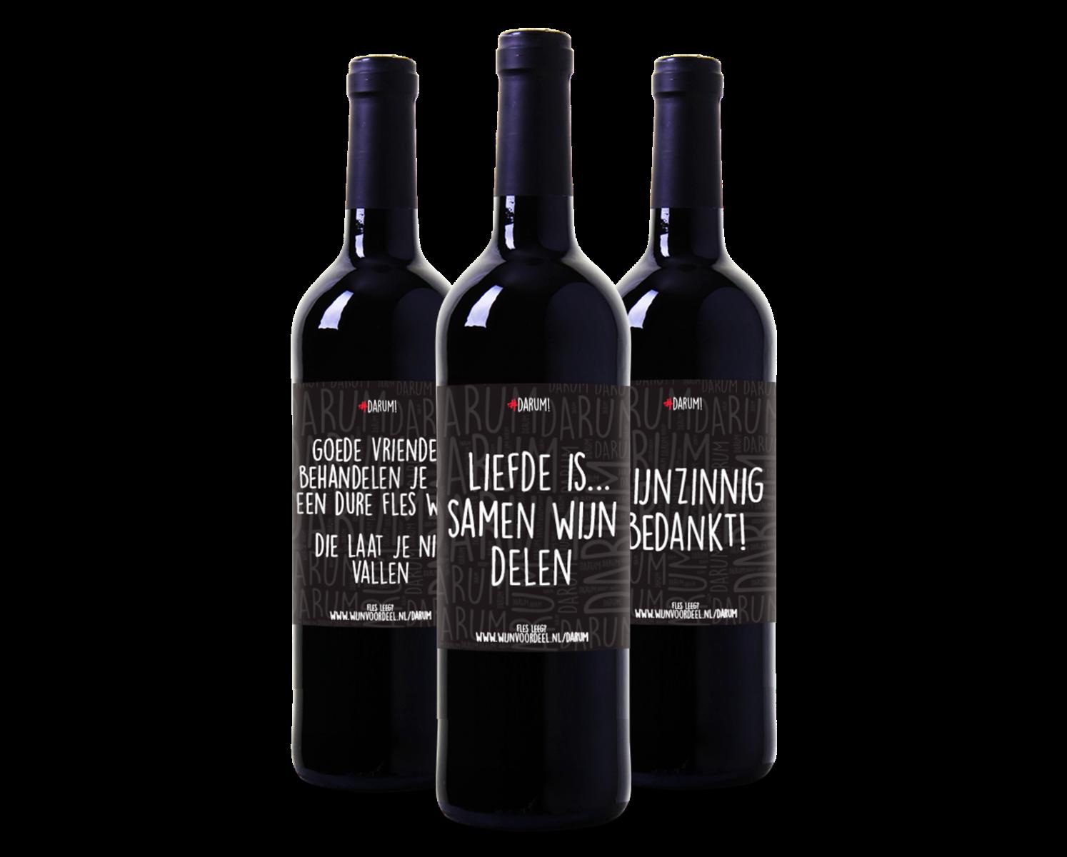 #Darum Wijnpakket Rood (3 flessen)