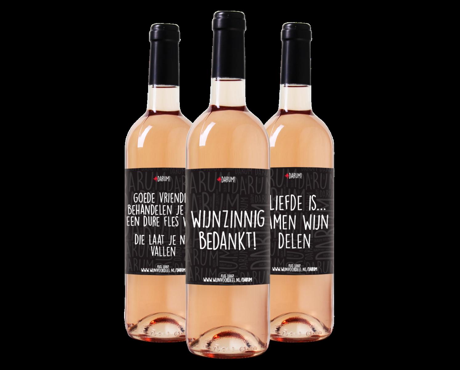#Darum Wijnpakket Rose (3 flessen) wijnvoordeel.nl