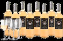 Wijnpakket San Silvano Rosato Salento IGT 8 flessen + 4 glazen