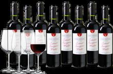 Wijnpakket Pierre Baptiste Cabernet Sauvignon - Merlot met 4 glazen