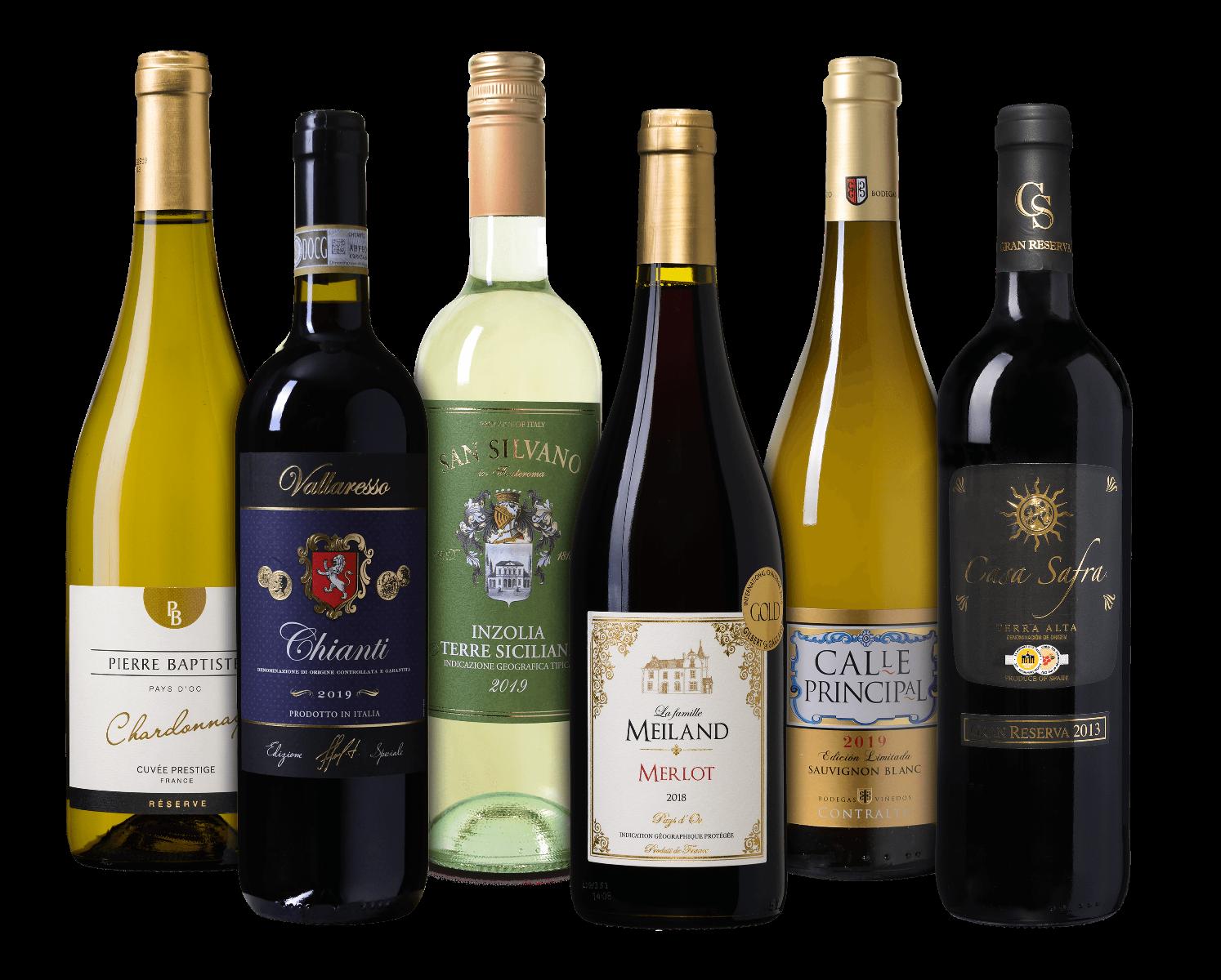 Wijnpakket oude wereld wijnvoordeel.nl