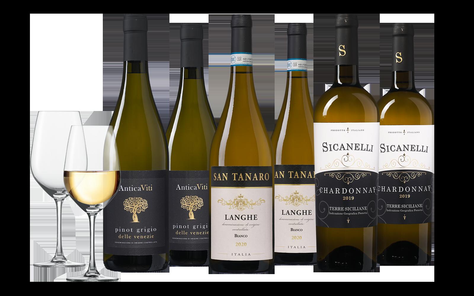 Wijnpakket Witte Italiaanse Grootheden