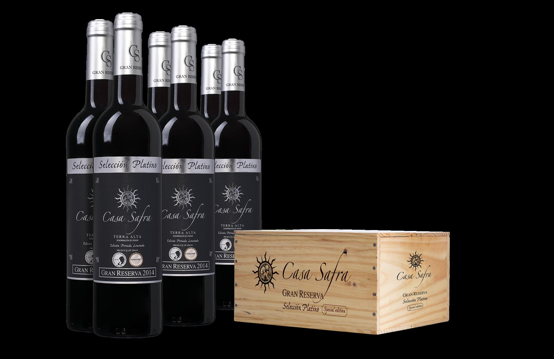 Casa Safra Selección Platino Terra Alta DO Gran Reserva in wijnkist (6 flessen)