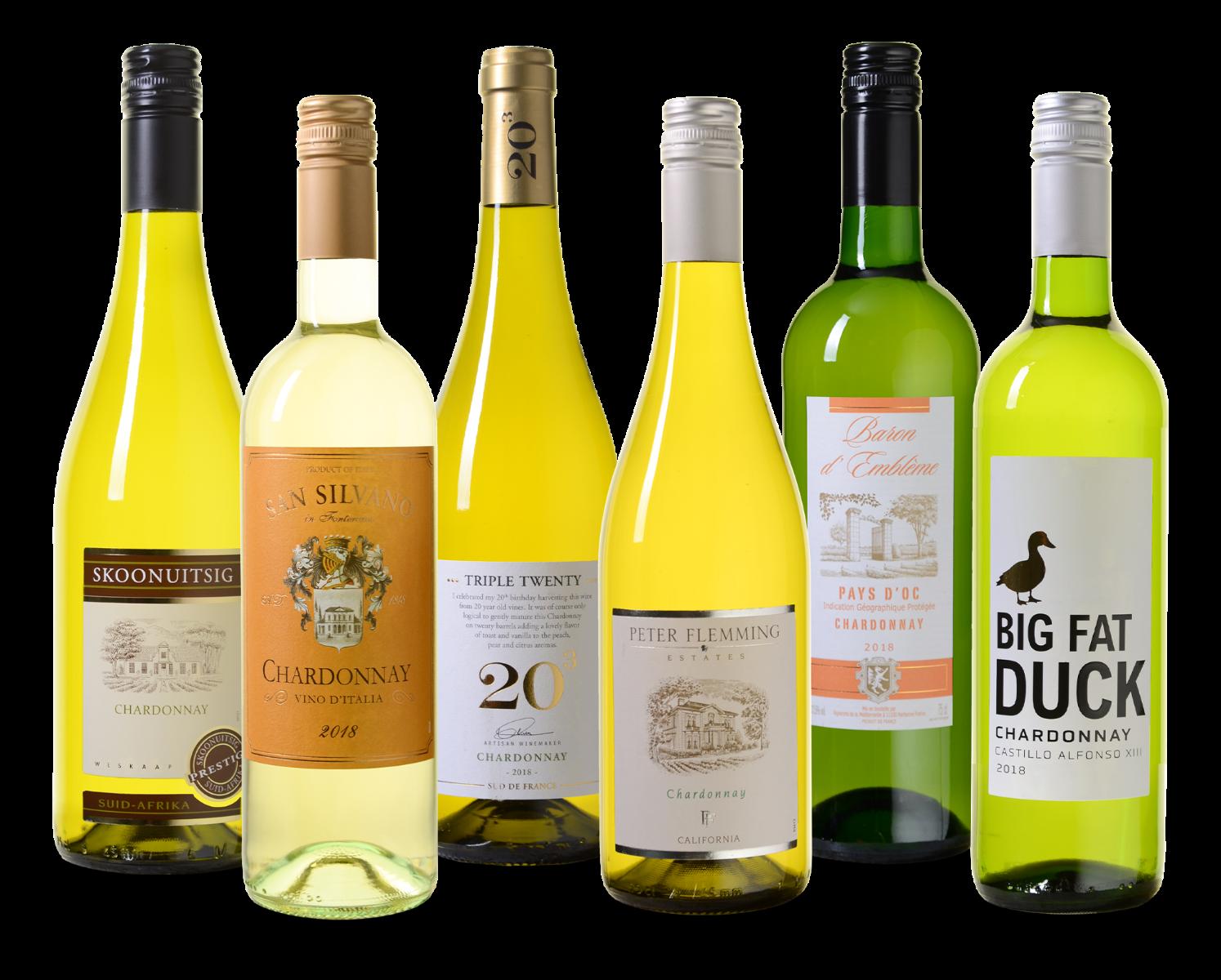 Wijnpakket Chardonnay wijnvoordeel.nl
