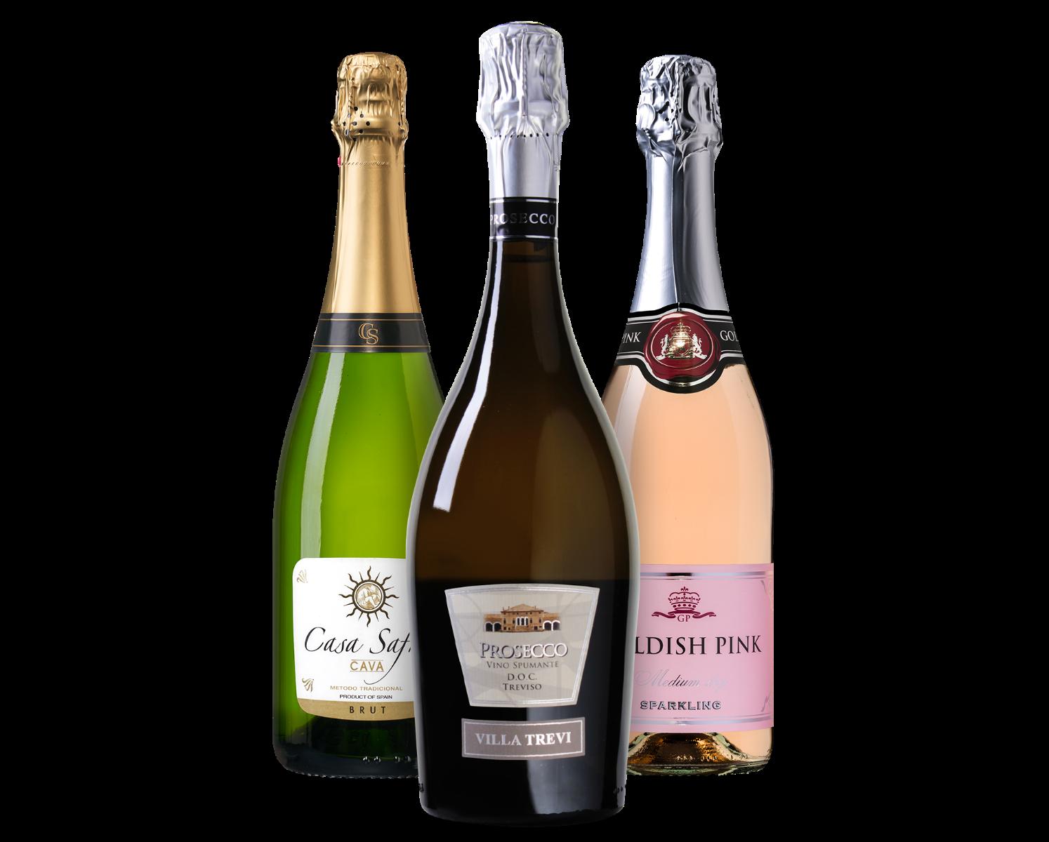 Wijnpakket Luxe mousserende wijnen (3 flessen)