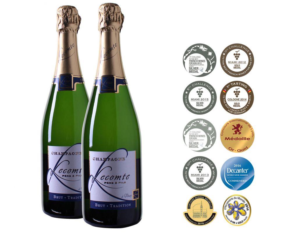 Lecomte Père et Fils Champagne AOC Brut Tradition (2 flessen)