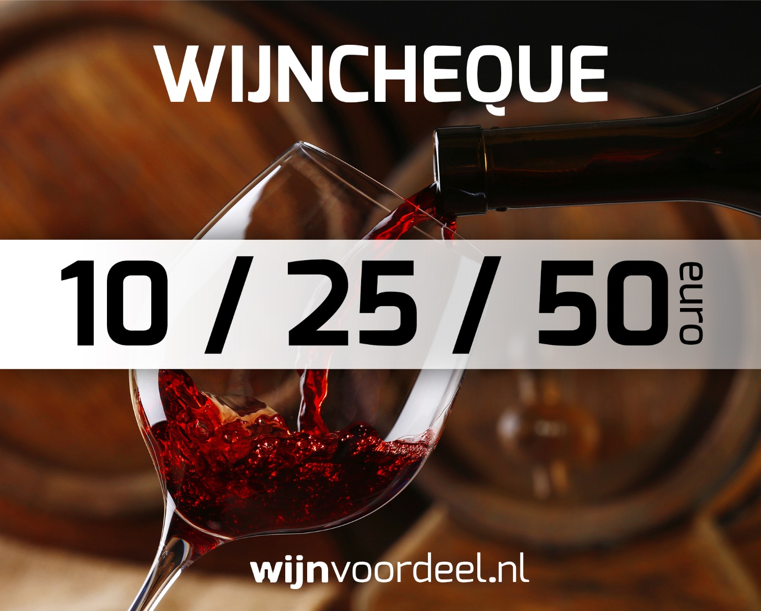 Virtuele waardebon  10,  25 of  50