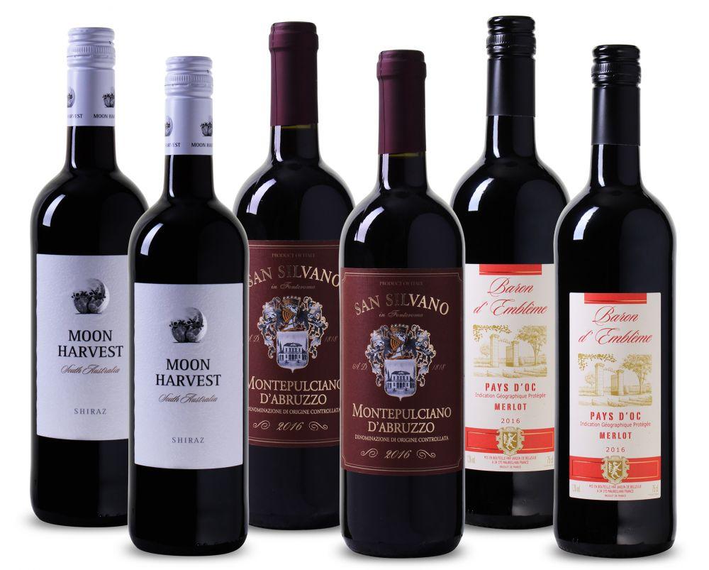 Wijnpakket Fruitig Rood