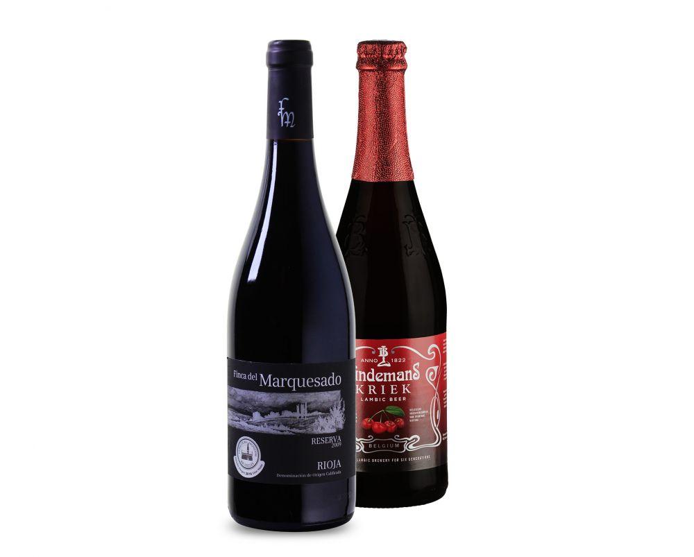 Wijnpakket Wijn en Speciaalbier (2 flessen)