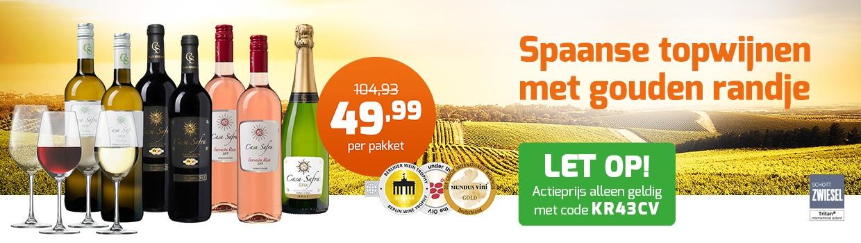 Casa Safra pakketten inclusief 4 luxe wijnglazen