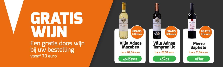Gratis doos wijn bij uw bestelling!