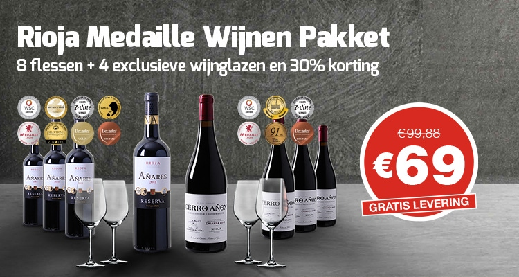 Rioja medaille wijnen pakket header